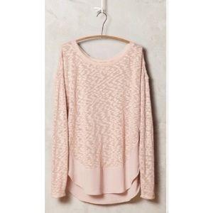 Anthropologie Deletta nubby circle tee sweater S